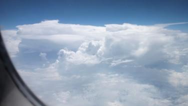 Nubes sobre la costa este