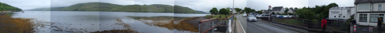 The bay behind the distillery.