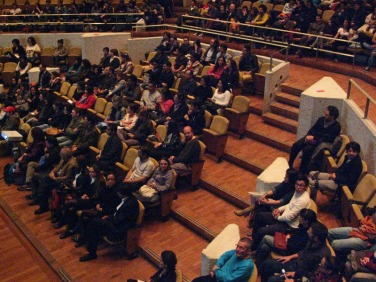 PechaKucha audience at U-Tadeo Lozano