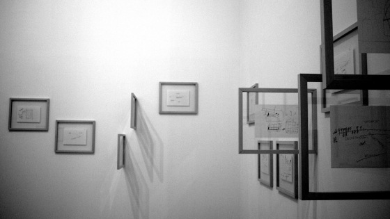 Morton Feldman - XXX - anécdotas y dibujos. 1984. Lyon, 2011 - foto: Andrés Villaveces