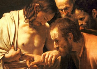 Fragment from The Incredulity of Saint Thomas (Caravaggio) - 1601