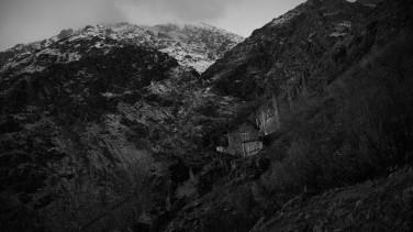 """Montañas del Alborz, de noche (exposición de 30"""")"""